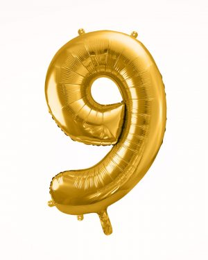 Balón číslo 9 zlatý
