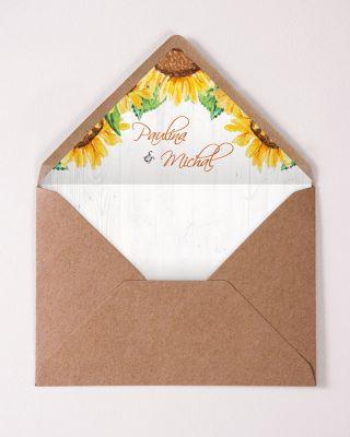 Vnútro obálky s menami