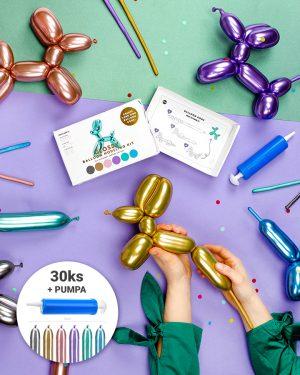 Originálne metalické balóny na modelovanie 30ks