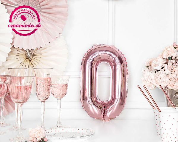 Balón s číslom 0 ružovo zlatý