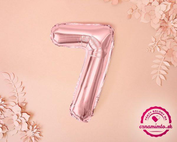 Balón s číslom 7 ružovo zlatý