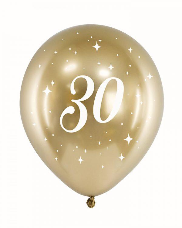 Zlaté narodeninové balóny 30