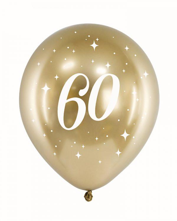 Zlaté narodeninové balóny 60