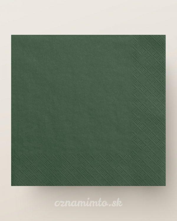Tmavo zelené papierové servítky 33x33cm