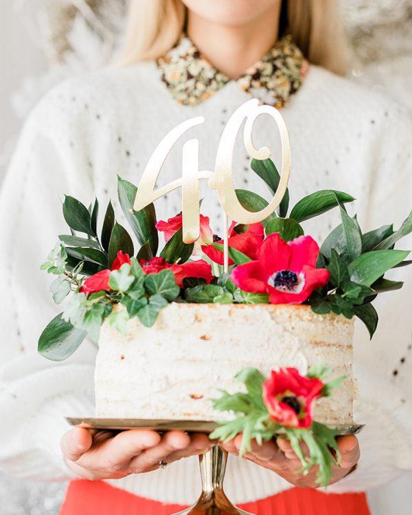 Zápich do torty s vekom 40