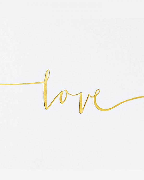 """Svadobná luxusná pamätná kniha biela s nápisom """"love"""""""