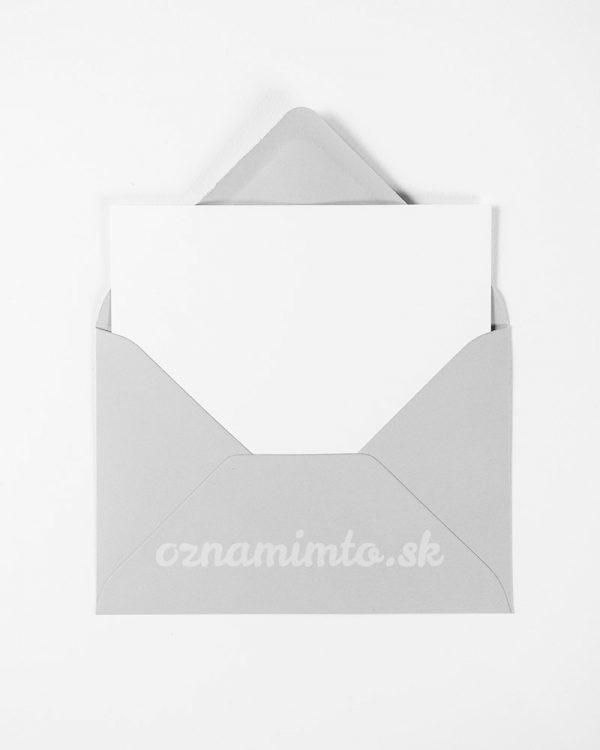 Svetlo šedé obálky C6
